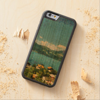 Capa De Madeira Cerejeira Bumper Para iPhone 6 Costa do lago