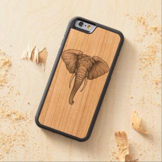 Capa De Madeira Cerejeira Bumper Para iPhone 6 elefante de madeira da caixa da cereja abundante