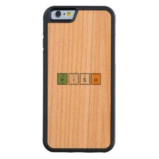 Capa De Madeira Cerejeira Bumper Para iPhone 6 Elementos químicos irlandeses Zy4ra
