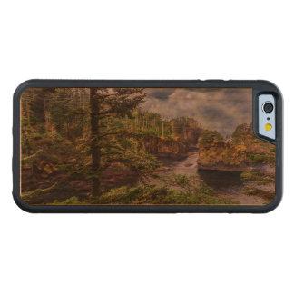 Capa De Madeira Cerejeira Bumper Para iPhone 6 elogio olímpico do cabo da península do nascer do