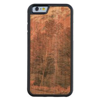 Capa De Madeira Cerejeira Bumper Para iPhone 6 Estrada vazia do cascalho - Parque Nacional Los