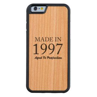 Capa De Madeira Cerejeira Bumper Para iPhone 6 Feito em 1997