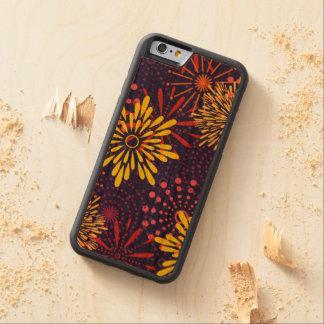 Capa De Madeira Cerejeira Bumper Para iPhone 6 Fogos-de-artifício