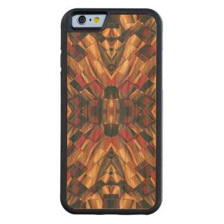 Capa De Madeira Cerejeira Bumper Para iPhone 6 Geométrico moderno colorido