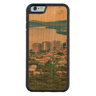 Capa De Madeira Cerejeira Bumper Para iPhone 6 Ideia aérea do subúrbio de Guayaquil do plano