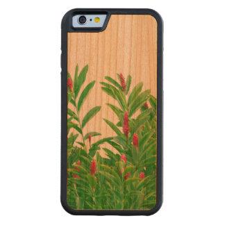 Capa De Madeira Cerejeira Bumper Para iPhone 6 Impressão floral tropical