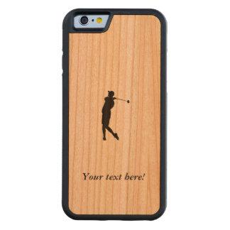 Capa De Madeira Cerejeira Bumper Para iPhone 6 Jogador de golfe