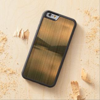 Capa De Madeira Cerejeira Bumper Para iPhone 6 Lago nas montanhas