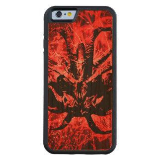 Capa De Madeira Cerejeira Bumper Para iPhone 6 Máscara tribal assustador