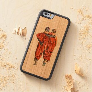 Capa De Madeira Cerejeira Bumper Para iPhone 6 Monges budistas