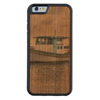 Capa De Madeira Cerejeira Bumper Para iPhone 6 Navio pequeno no oceano Porto Galinhas Brasil