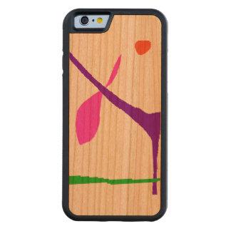 Capa De Madeira Cerejeira Bumper Para iPhone 6 Nunca Get furada
