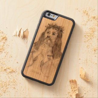 Capa De Madeira Cerejeira Bumper Para iPhone 6 O amor do salvador