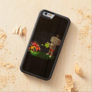 Capa De Madeira Cerejeira Bumper Para iPhone 6 O jardim do robô