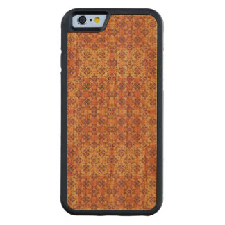 Capa De Madeira Cerejeira Bumper Para iPhone 6 Ornamentado do vintage barroco