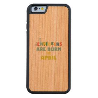 Capa De Madeira Cerejeira Bumper Para iPhone 6 Os engenheiros são em abril Z5h58 nascidos