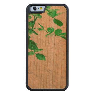 Capa De Madeira Cerejeira Bumper Para iPhone 6 Plantas sobre a foto da parede