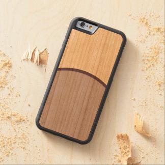 Capa De Madeira Cerejeira Bumper Para iPhone 6 Ponto do Lilac