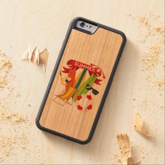 Capa De Madeira Cerejeira Bumper Para iPhone 6 Praia Watersports do verão