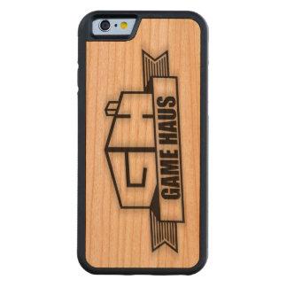Capa De Madeira Cerejeira Bumper Para iPhone 6 Telefone de GameHAUS - queimadura de madeira