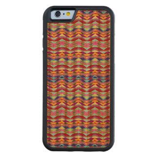 Capa De Madeira Cerejeira Bumper Para iPhone 6 Teste padrão colorido étnico