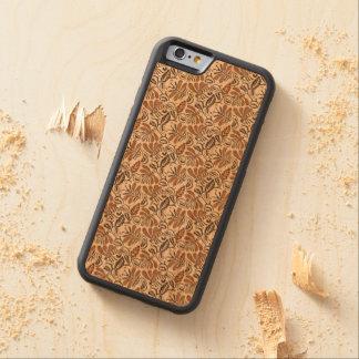Capa De Madeira Cerejeira Bumper Para iPhone 6 Teste padrão de Walang do Batik (teste padrão de