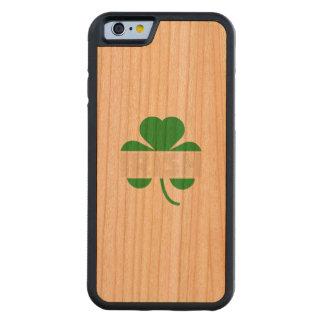 Capa De Madeira Cerejeira Bumper Para iPhone 6 Trevo irlandês Z2n9r do cloverleaf