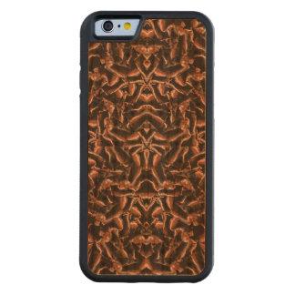 Capa De Madeira Cerejeira Bumper Para iPhone 6 Tribal moderno intrincado escuro