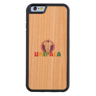 Capa De Madeira Cerejeira Bumper Para iPhone 6 Unicórnio Unipaca Z4srx da alpaca