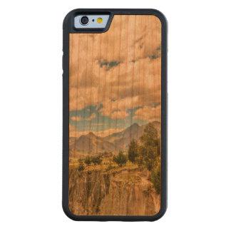 Capa De Madeira Cerejeira Bumper Para iPhone 6 Vale e montanhas Latacunga Equador da escala de