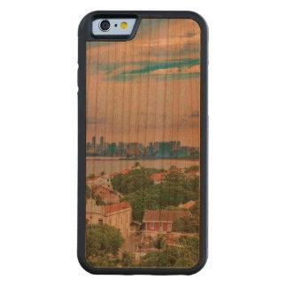 Capa De Madeira Cerejeira Bumper Para iPhone 6 Vista aérea de Olinda e de Recife Pernambuco