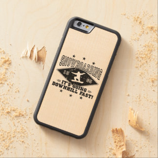 Capa De Madeira De Bordo Bumper Para iPhone 6 A DESCIDA JEJUA! (preto)