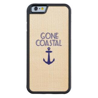 Capa De Madeira De Bordo Bumper Para iPhone 6 Âncora litoral ida dos azuis marinhos