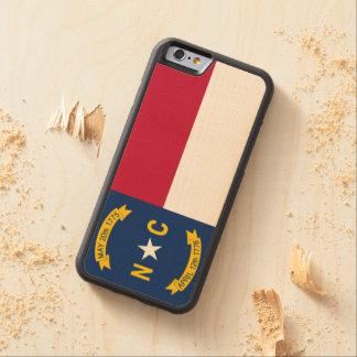 Capa De Madeira De Bordo Bumper Para iPhone 6 Bandeira do estado de North Carolina