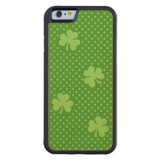 Capa De Madeira De Bordo Bumper Para iPhone 6 Dia verde de Patricks do santo do teste padrão do