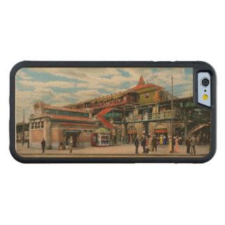 Capa De Madeira De Bordo Bumper Para iPhone 6 Estação de caminhos-de-ferro - casa atlântica 1910