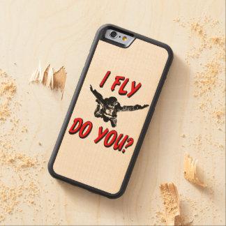 Capa De Madeira De Bordo Bumper Para iPhone 6 Eu vôo, faz você? (preto)