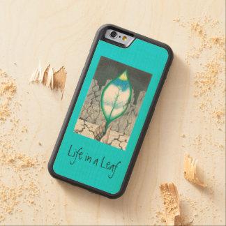 Capa De Madeira De Bordo Bumper Para iPhone 6 … Folha (magro)