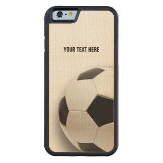 Capa De Madeira De Bordo Bumper Para iPhone 6 Futebol clássico do futebol |