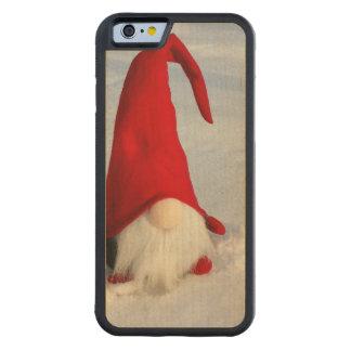 Capa De Madeira De Bordo Bumper Para iPhone 6 Gnomo escandinavo do Natal