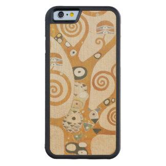 Capa De Madeira De Bordo Bumper Para iPhone 6 Gustavo Klimt a árvore da arte Nouveau da vida