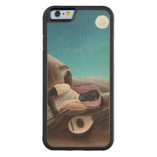 Capa De Madeira De Bordo Bumper Para iPhone 6 Henri Rousseau o vintage aciganado do sono