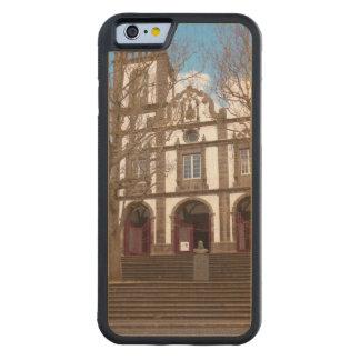 Capa De Madeira De Bordo Bumper Para iPhone 6 Igreja em ilhas de Açores