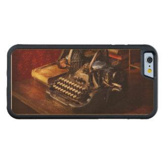 Capa De Madeira De Bordo Bumper Para iPhone 6 Máquina de dactilografia de Steampunk - de Oliver