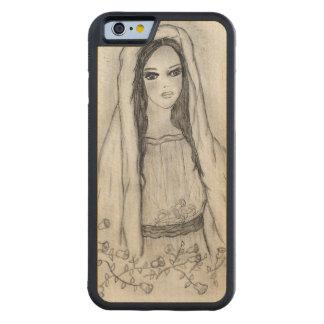 Capa De Madeira De Bordo Bumper Para iPhone 6 Mary com rosas