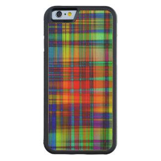 Capa De Madeira De Bordo Bumper Para iPhone 6 O abstrato colorido listra a arte
