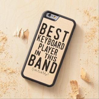 Capa De Madeira De Bordo Bumper Para iPhone 6 O melhor jogador de teclado (provavelmente)