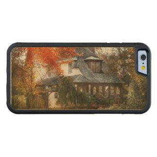 Capa De Madeira De Bordo Bumper Para iPhone 6 Outono - em cada conto de fadas
