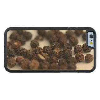 Capa De Madeira De Bordo Bumper Para iPhone 6 Pimenta preta