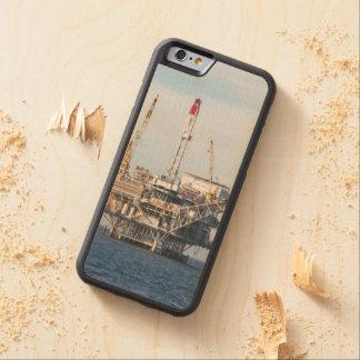 Capa De Madeira De Bordo Bumper Para iPhone 6 Plataforma petrolífera